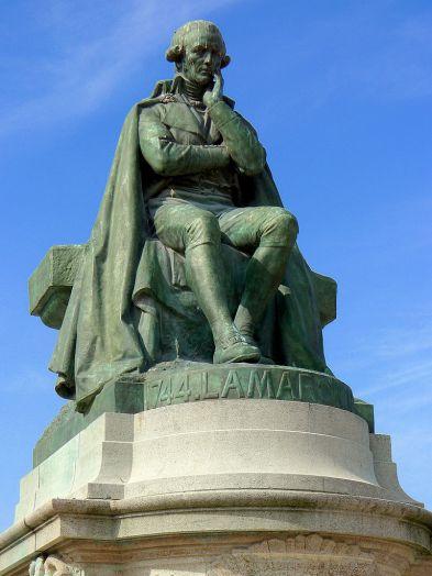 Jean-Baptiste Lamarck's statue in the Jardin des Plantes, Paris